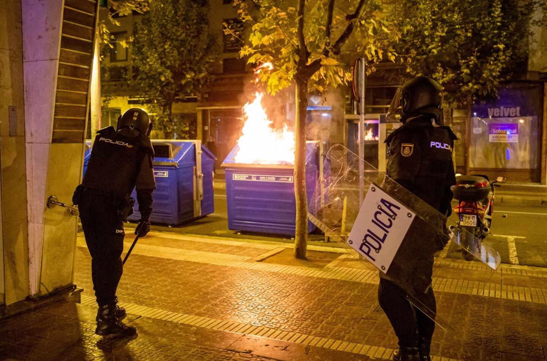 Disturbios en Logroño.