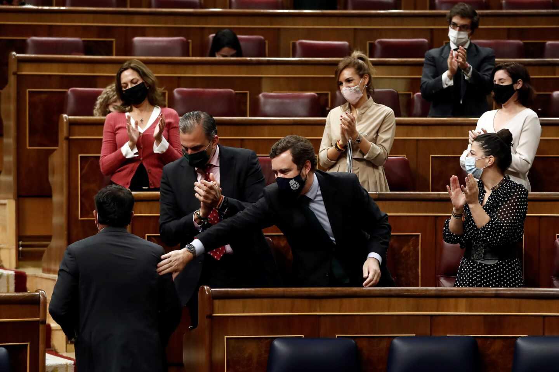 Diputados de Vox en el debate de la Ley Celaá.