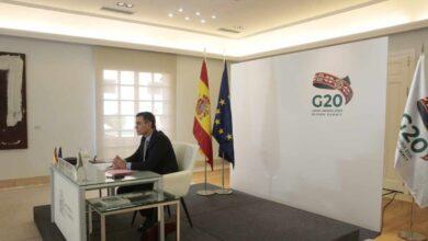 """Sánchez defiende ante el G20 el acceso universal a las vacunas y pide el """"apoyo inequívoco"""" a la OMS"""