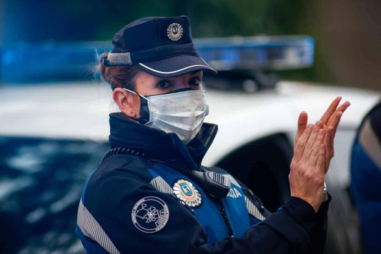 Una agente de la policía municipal de Madrid, en una imagen de archivo.