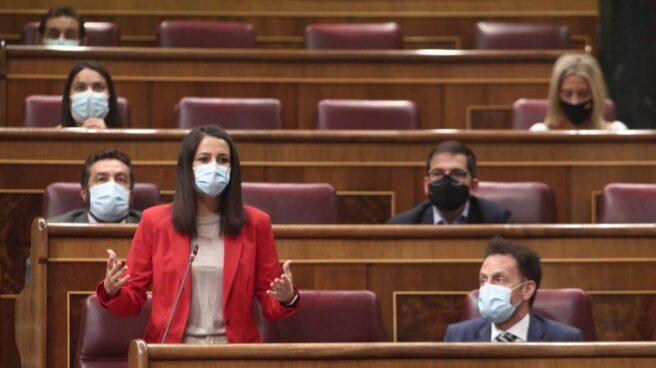 Inés Arrimadas y su grupo de Ciudadanos en el Congreso de los Diputados.