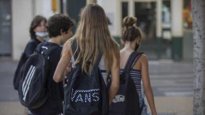 Alumnos de un instituto de Sevilla.