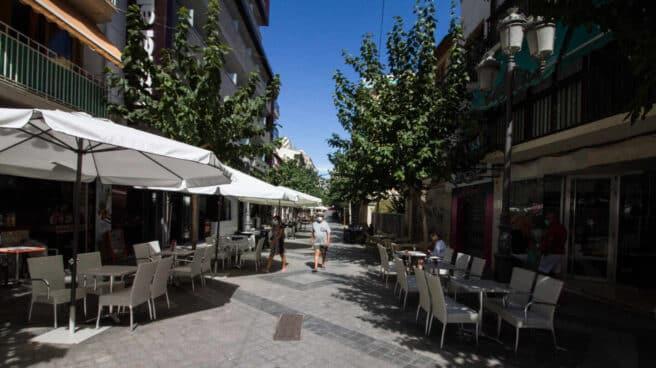 Terraza de un bar en Benidorm (Alicante).