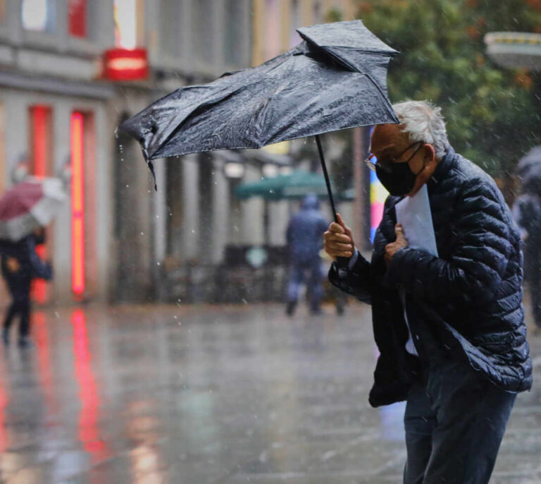 La llegada de un frente frío a la Península dejará lluvias muy fuertes en más de 10 provincias