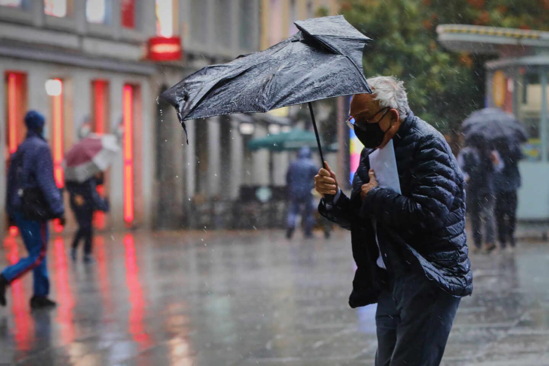 Día de lluvia en Madrid.