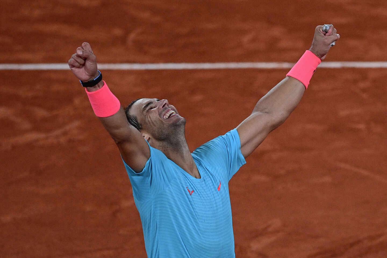 El tenista Rafa Nadal celebra su triunfo en Roland Garros.