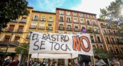 Protesta de comerciantes del Rastro.