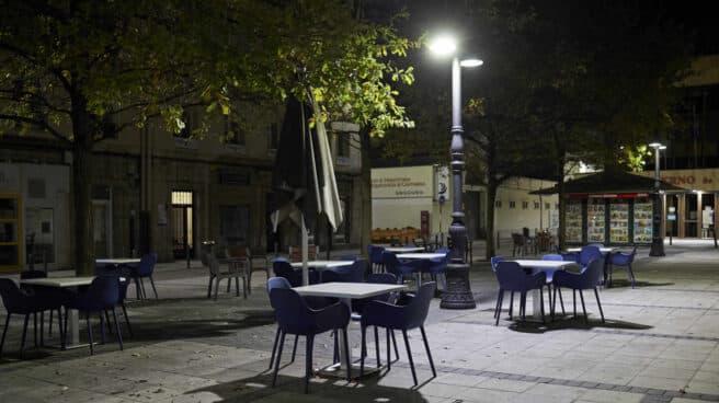Terrazas de la calle Hernán Cortés, en Santander.