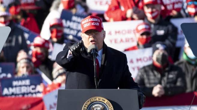 Donald Trump, en un evento electoral en Fayetteville, Carolina del Norte.