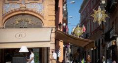 Terraza de la calle Sierpes de Sevilla.