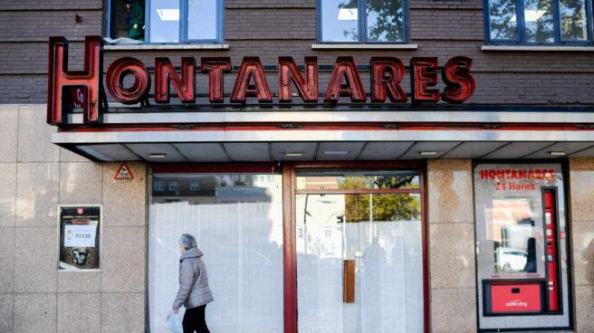 La cafetería Hontanares, cerrada.