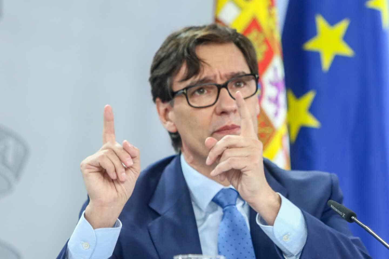 El ministro de Sanidad, Salvador Illa; en una comparecencia informativa en La Moncloa.