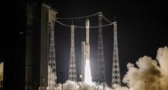 Momento del despegue del cohete Vega con el satélite español Ingenio.