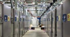 Construcción de una nave de congeladores en la planta que tiene Pfizxer e Kalamazoo, Estados Unidos