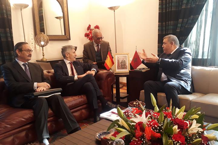 Grande-Marlaska y Abdelouafi Laftit, el pasado mes de febrero en Rabat.