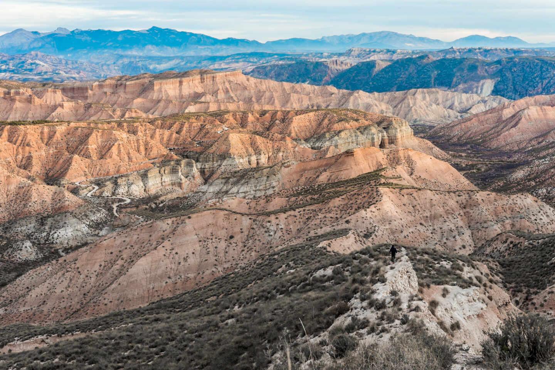 Los Coloraos, paisaje del Geoparque de Granada