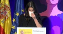 Irene Montero, al borde de las lágrimas en su discurso contra la violencia machista