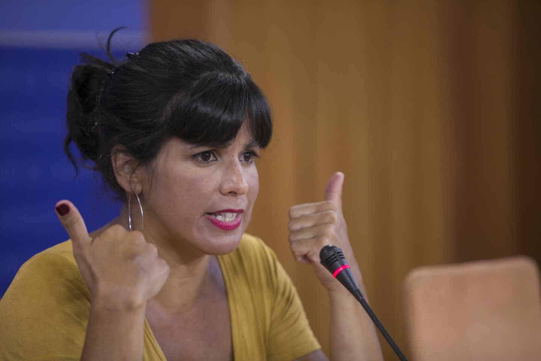 Teresa Rodríguez, presidenta del grupo parlamentario Adelante Andalucía.