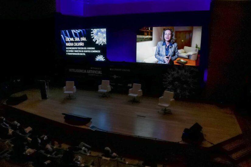 """La vicepresidenta Nadia Calviño inauguró el Congreso: """"La inteligencia artificial es un arma fundamental contra el Covid"""""""