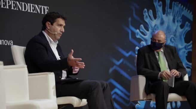 Juan Luis Pedreño, Diputado del Congreso. Portavoz de la Comisión de Asuntos Económicos y Transformación Digital, y Antonio Rodes, Director General SPTCV Distrito Digital,