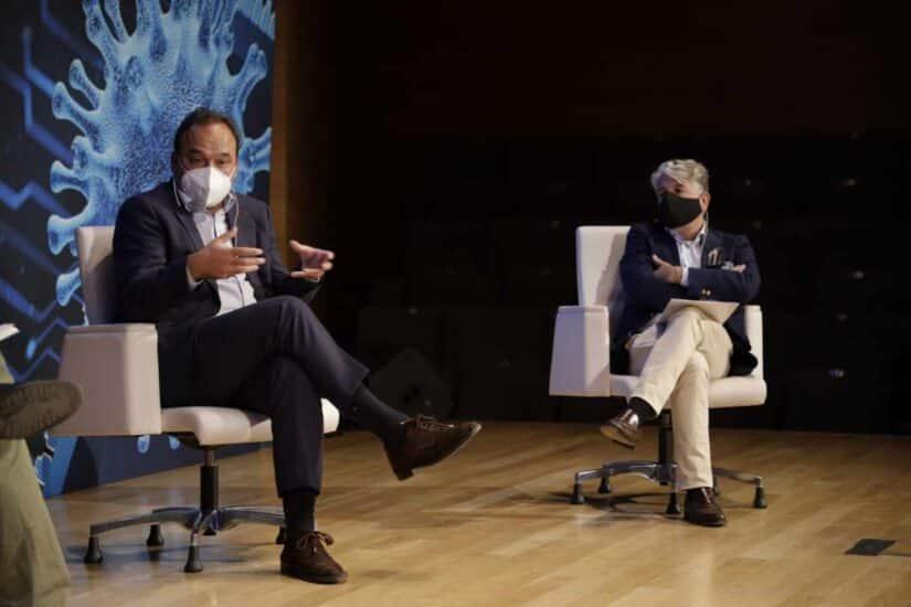 El economista José Carlos Díez y el ex CEO de Accenture Juan Pedro Moreno