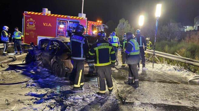 Accidente en Daganzo de Arriba (Madrid).
