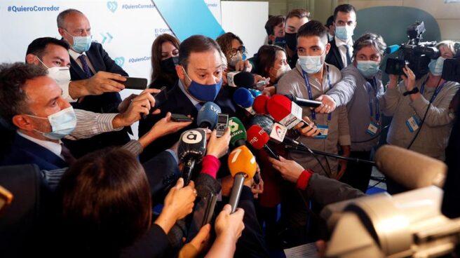 El ministro José Luis Ábalos, en un encuentro con empresarios.