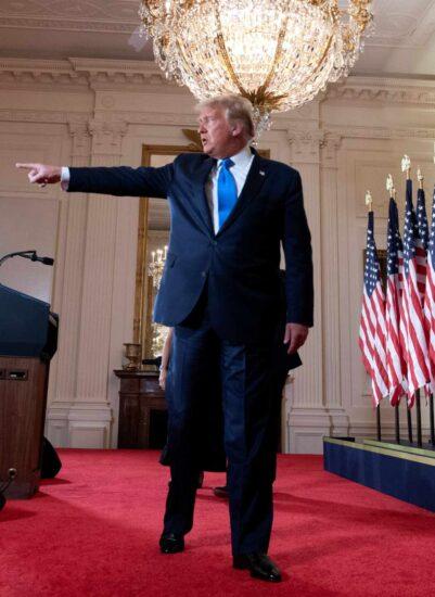 Donald Trump aseguró en su discurso en la Casa Blanca que él es el ganador de las elecciones