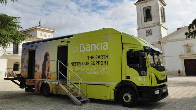 Imagen de un ofibus de Bankia en Titulcia (Comunidad de Madrid).