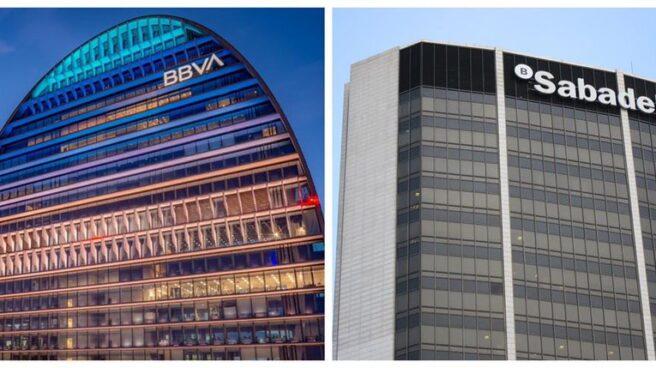 Oficinas de BBVA y Sabadell.