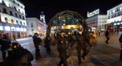La Policía disuelve a los radicales en la Gran Vía de Madrid