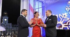 Jorge Javier Vázquez, Isabel Pantoja y Kiko Rivera en las campanadas de 2011.