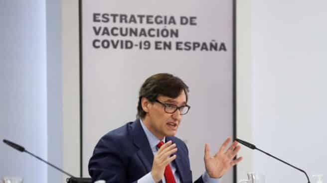 El ministro de Sanidad, Salvador Illa, comparece en Moncloa.