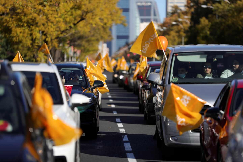 Manifestación en Madrid contra la Ley Celaá.