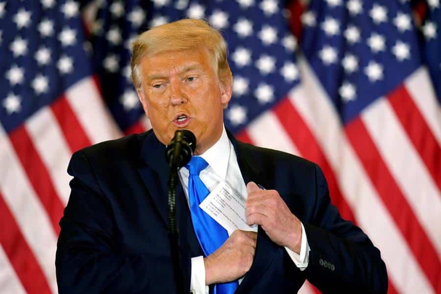 El presidente saliente de Estados Unidos, Donald Trump.