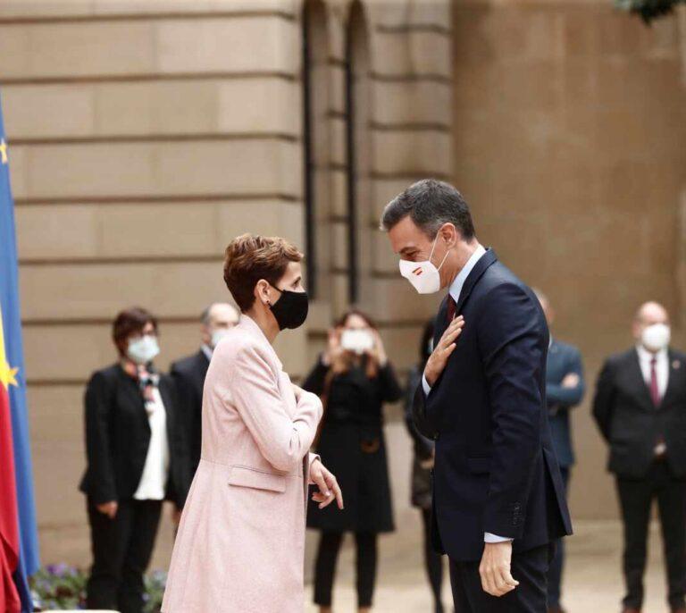 Así ha sido el abucheo a Pedro Sánchez a su llegada a Pamplona