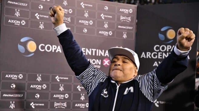 Homenaje en Buenos Aires a Diego Armando Maradona.