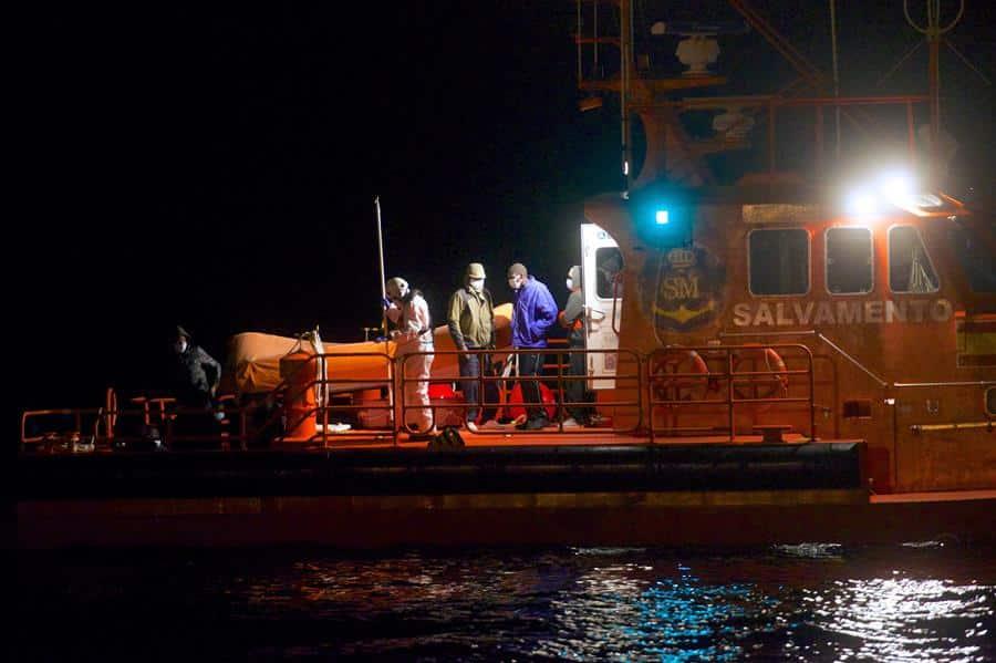 Rescate de nuevas pateras en la costa canaria.