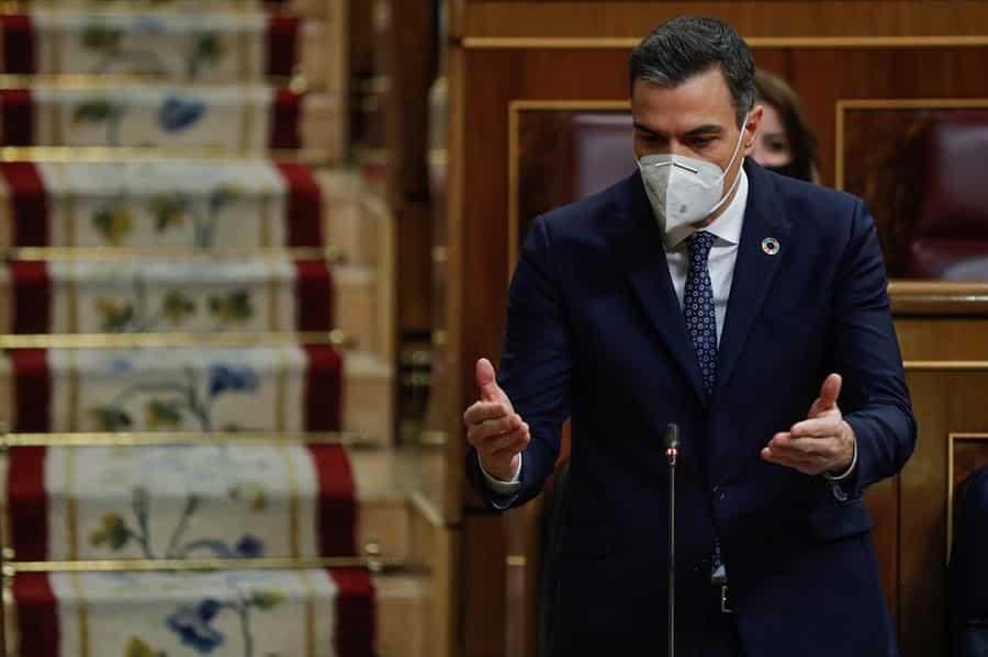 Pedro Sánchez, en el Congreso de los Diputados.