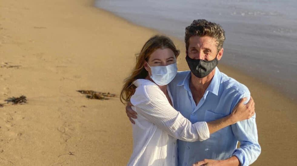 Reencuentro de los protagonistas de 'Anatomía de Grey', Ellen Pompeo y Patrick Dempsey.