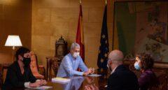 Reunión de María Jesús Montero y Nacho Álvarez con los representantes de Bildu en el Congreso.