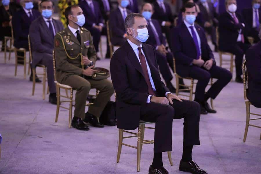 El rey Felipe VI, durante un acto institucional.