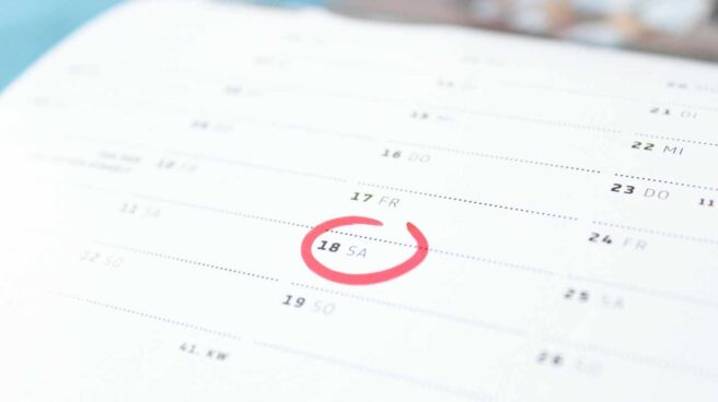 Imagen de archivo de un calendario mensual en representación del calendario laboral de 2022