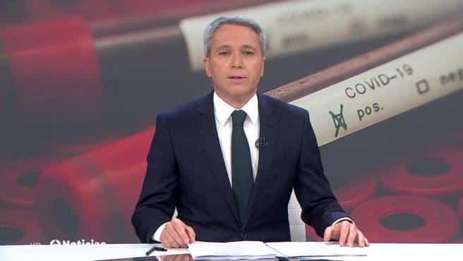 Vicente Vallés en los informativos de Antena 3.
