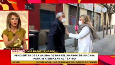 El padre de Rafael Amargo pierde los nervios y amenaza con pegar a una reportera