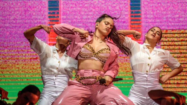 Rosalía en una actuación en el festival BBK.
