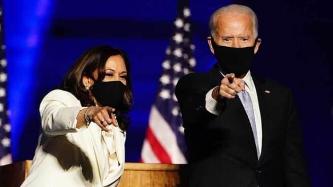 El presidente electo de EEUU, Joe Biden, y la próxima vicepresidenta, Kamala Harris.