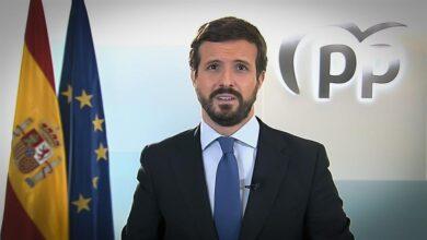 """Casado critica la """"mentira"""", la """"arrogancia"""" y la """"incompetencia"""" de Sánchez en su balance de 2020"""