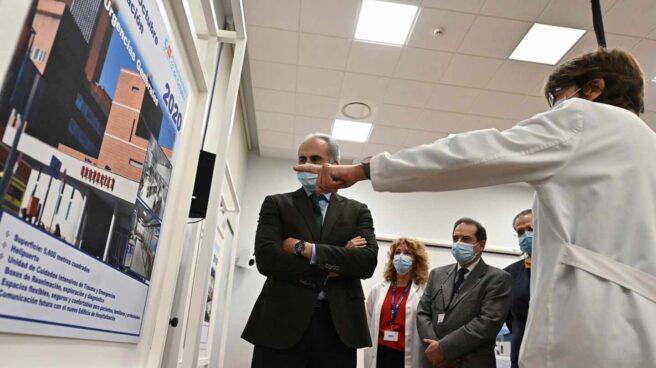 Ruiz Escudero presenta el nuevo edificio del Hospital Universitario 12 de Octubre.