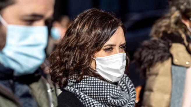 La presidenta de la Comunidad de Madrid, Isabel Díaz Ayuso, en Toledo.